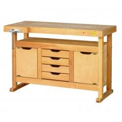Etabli bois avec 4 tiroirs et 2 caissons - Dim 1200 x 500