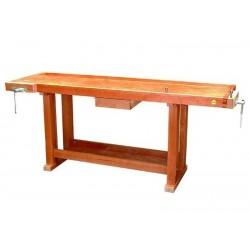 Grand établi bois avec tiroir et étagère