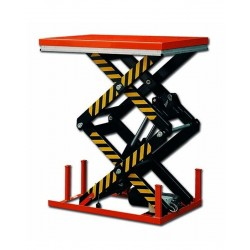 Table élévatrice électrique double ciseaux