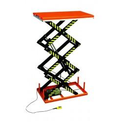 Table élévatrice électrique triple ciseaux