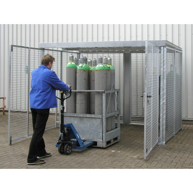 Box pour bouteilles à gaz GFC-M-DF avec toit