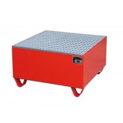 Bac de rétention avec caillebotis 800 x 800 x 465 mm