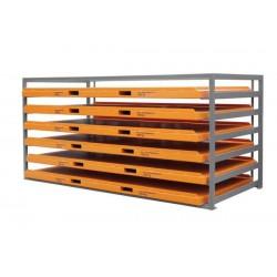Rack à tiroirs