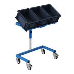 Support bac 900 x 400 inclinable bleu