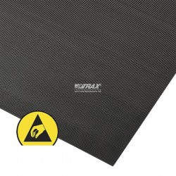Tapis antistatique à stries fines