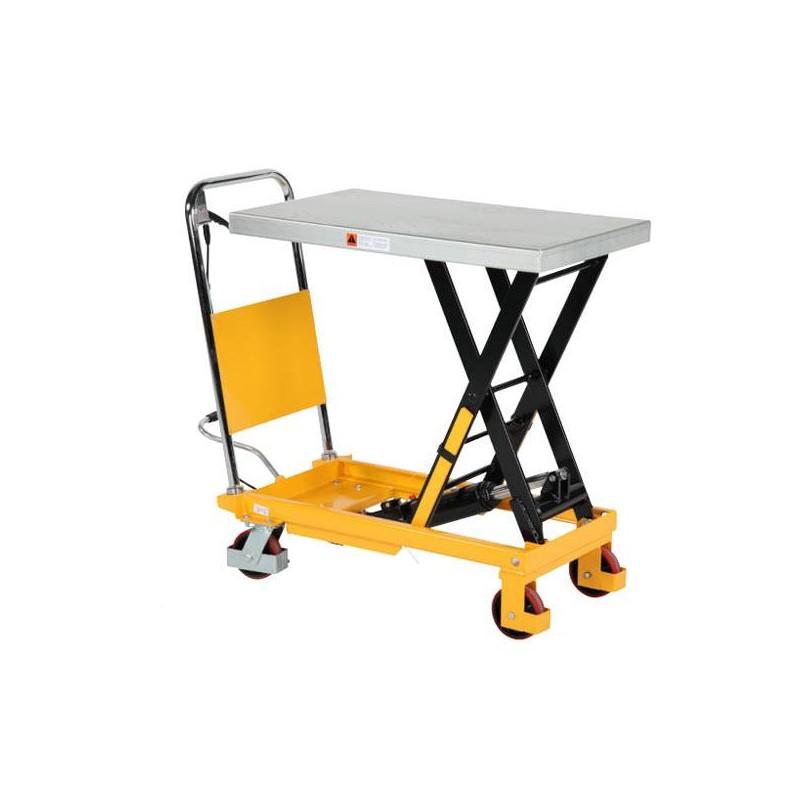 Table élévatrice manuelle, charge 750 Kg