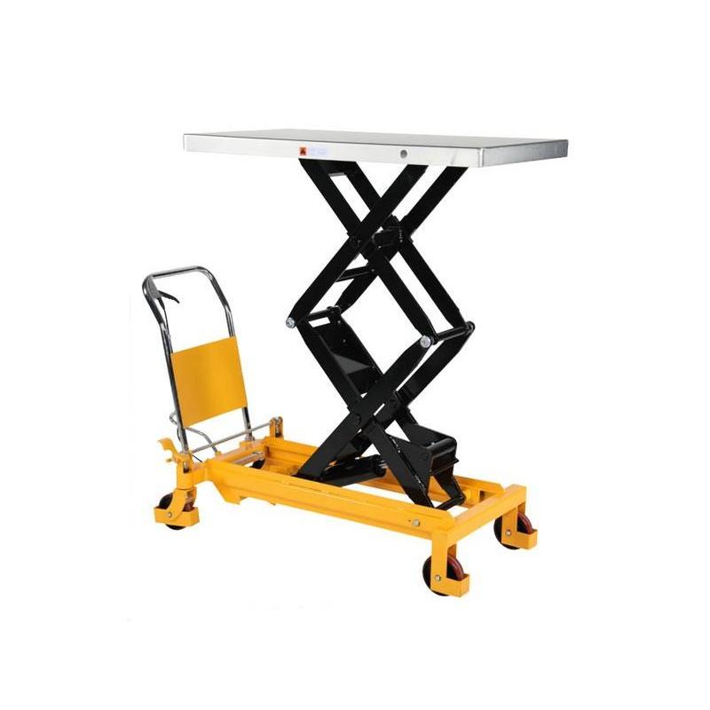 Table élévatrice manuelle double ciseau 300 à 800 Kg