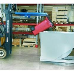 Videur à conteneur poubelle