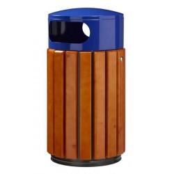 Corbeille à poser ou à fixer 40 et 60 litres bleu bois