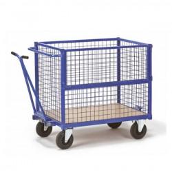 Chariot container avec poignée manuelle sans couvercle