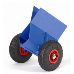 Pince à panneaux, roue pneumatique