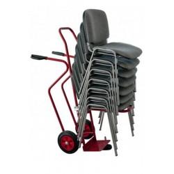Diable porte-chaises 250 kg, roues caoutchouc