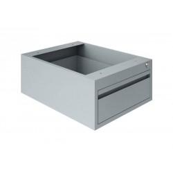 Bloc 1 tiroir gris
