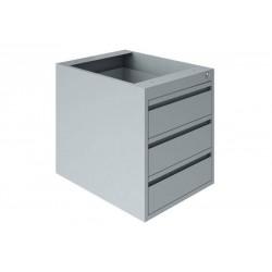 Bloc 3 tiroirs gris