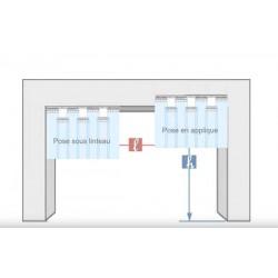Rideau lanière PVC décrochable Hauteur 3500 mm