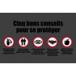 Tapis Bons Conseils spécial Covid-19