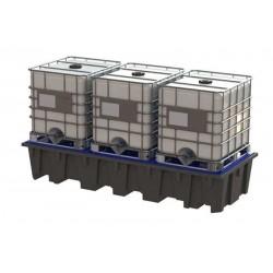 Bacs de rétention plastique 3300 l pour rayonnage