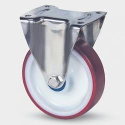 Roulettes industrielles TENTE polyuréthane injecté rouge Ø160 charge 350 kg