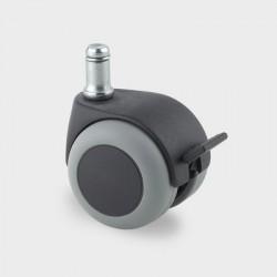 Roulettes d'ameublement caoutchouc thermoplastique, version pivotante avec frein