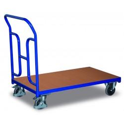 Chariot plate-forme à dossier tubulaire
