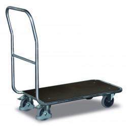 Chariot de magasin en aluminium à dossiers tubulaires
