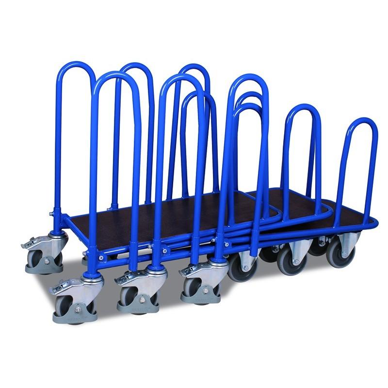 Chariot C + C avec 2 plateaux  et 4 arceaux latéraux