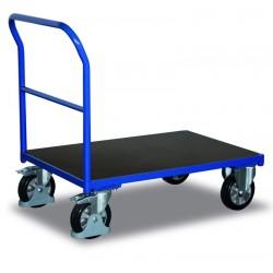 Chariot pour charges lourdes à dossier avec poignée