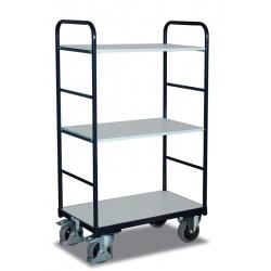 Chariot ESD haut à étagères avec 3 plateaux