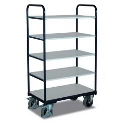 Chariot ESD haut à étagères avec 5 plateaux