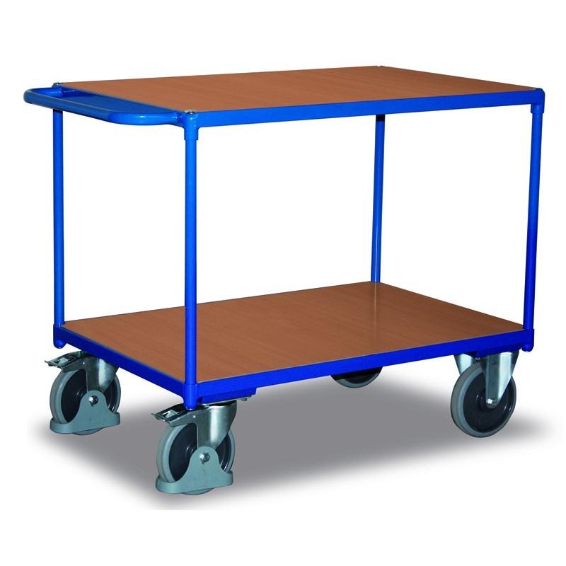 Chariot charge lourde à 2 plateaux