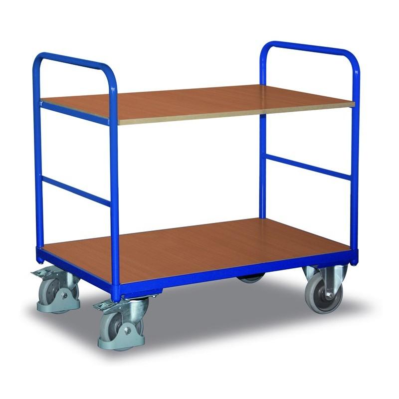 Chariot à étagères, 1 plateau et 1 étagère