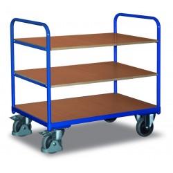 Chariot à étagères, 1 plateau et 2 étagères
