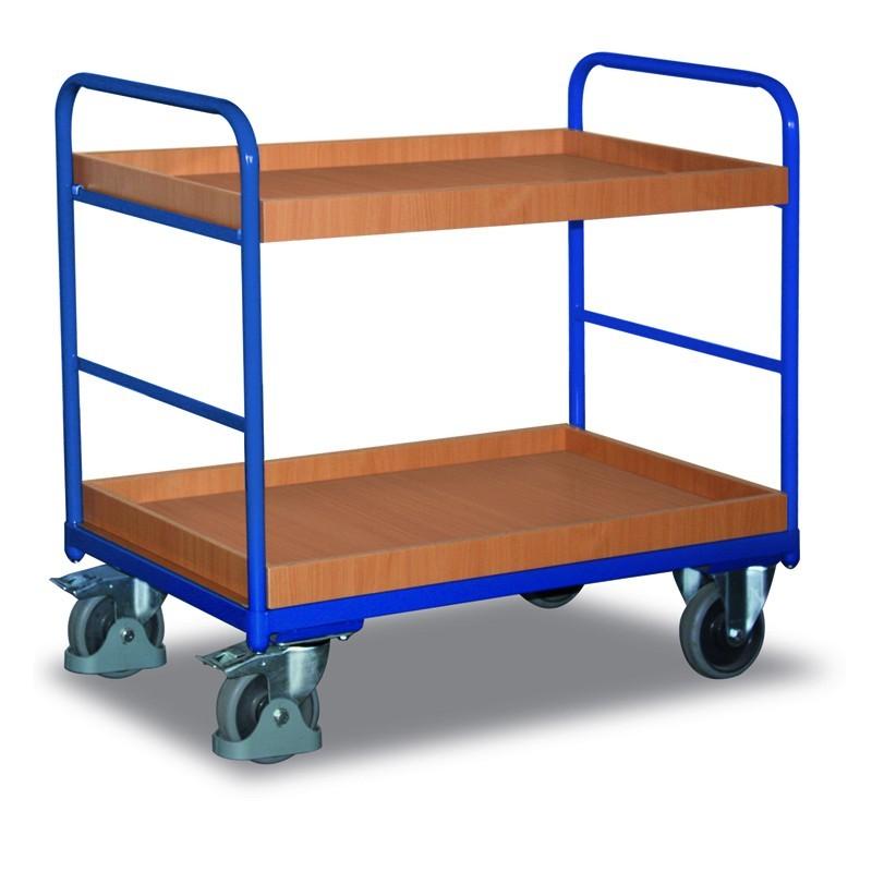 Chariot à étagères, 1 plateau et 1 bac