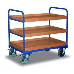 Chariot à étagères, 3 bacs