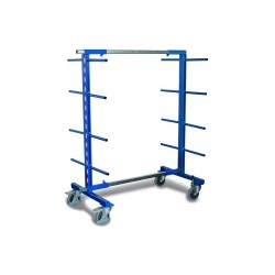 Rayonnage cantilever mobile double face avec 2 montants