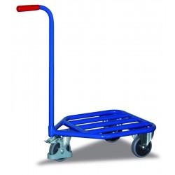 Chariot col de cygne avec plateau tubulaire, 3 roulettes