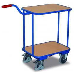 Chariot col de cygne avec 2 plateaux bois