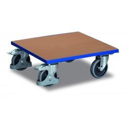 Plateau roulant pour caisses avec plateau mélaminé