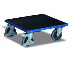 Plateau roulant pour caisses avec revêtement caoutchouc