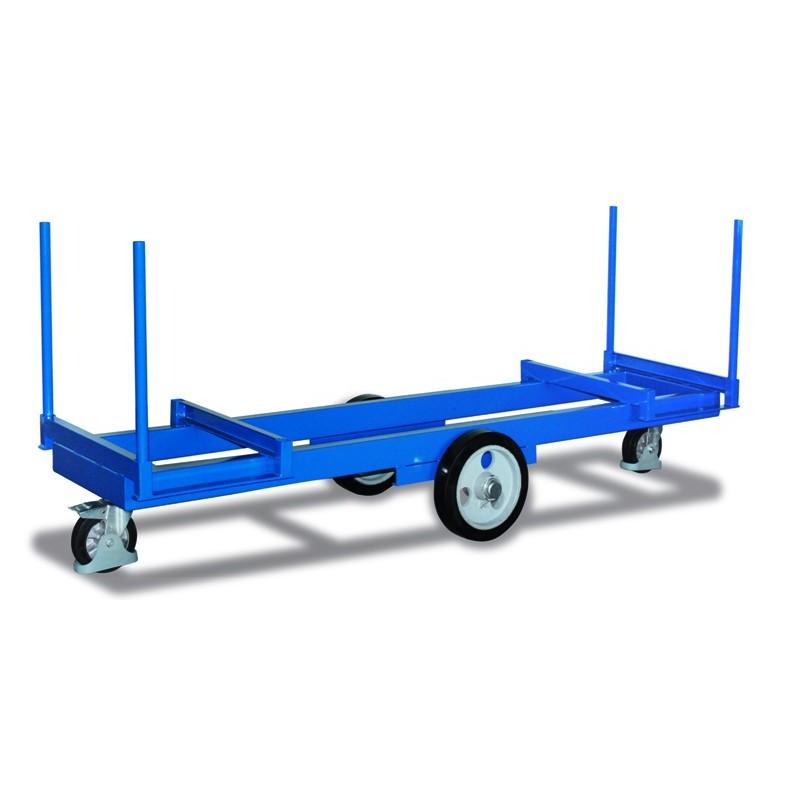 Chariot pour charges longues avec 4 montants emboîtables