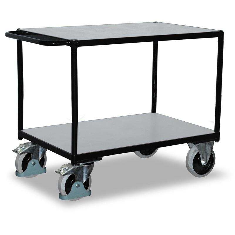 Chariot ESD à plateaux charges lourdes, 2 plateaux